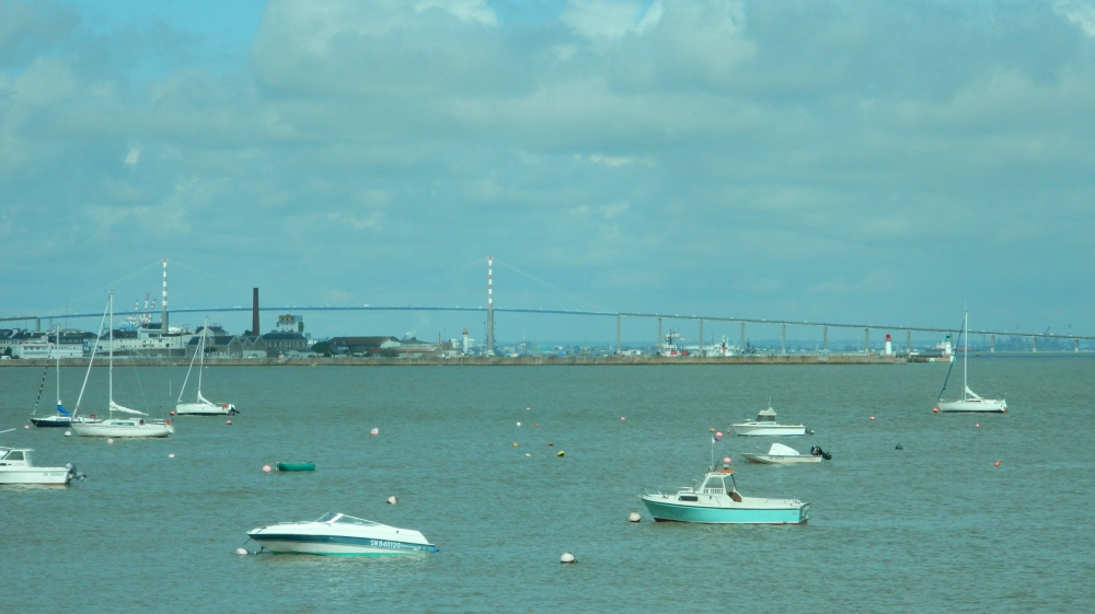 Saint Nazaire, Brücke über die Loiremündung in den Atlantik